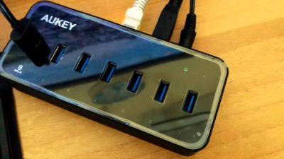 Hub 6 ports USB 3,0 Aukey CB-H17 - Rue Montgallet