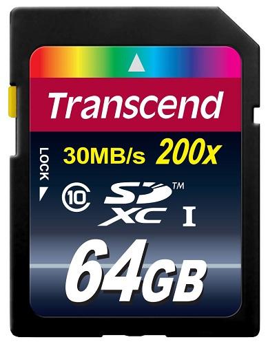 Transcend SDXC 64Go Class 10 - Rue Montgallet