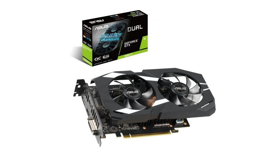 Asus GeForce GTX 1660 Ti DUAL-GTX1660TI-O6G - Rue Montgallet