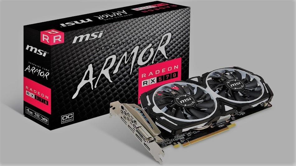 MSI Radeon RX 570 ARMOR 4G OC - Rue Montgallet