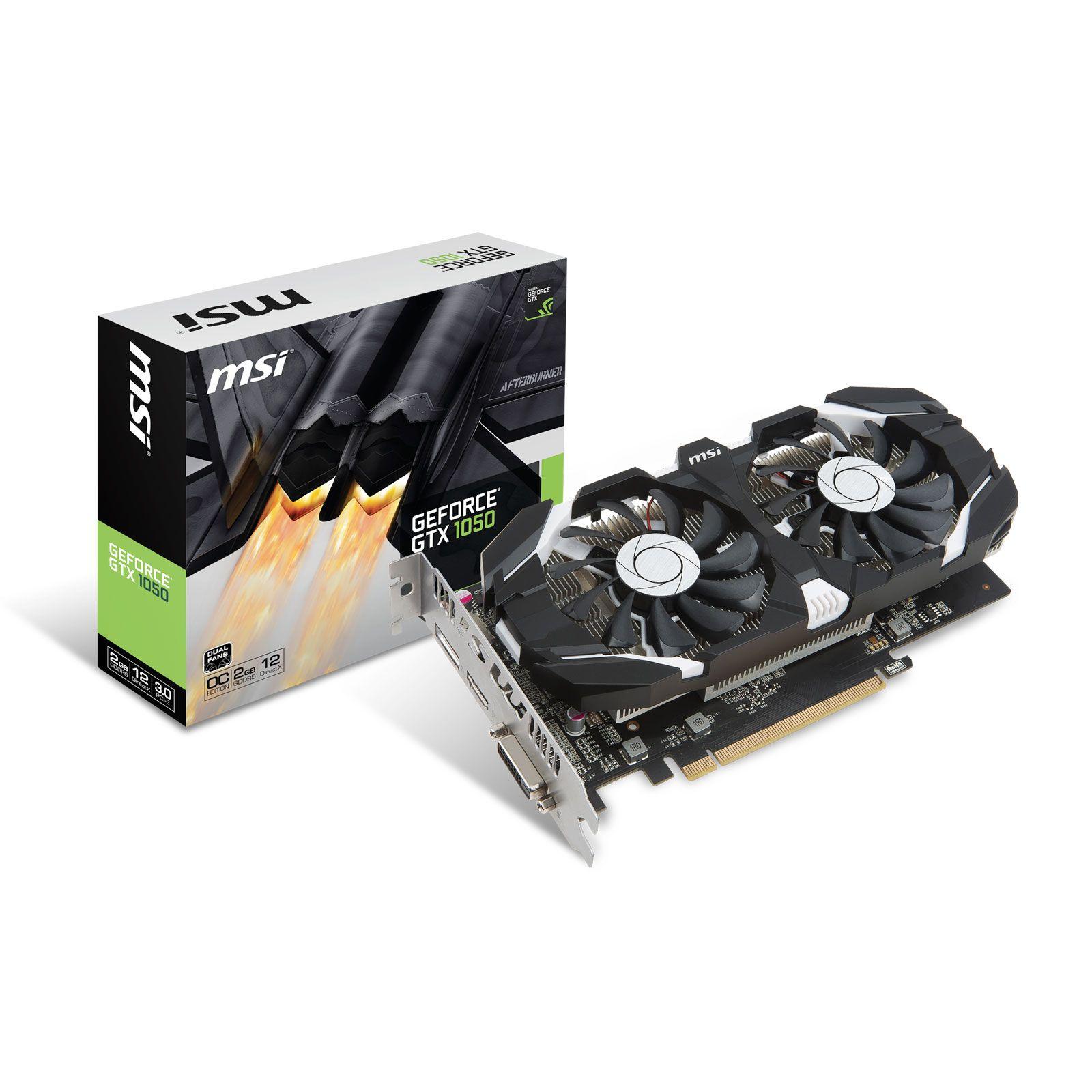 MSI GeForce GTX 1050 2GT OCV - Rue Montgallet