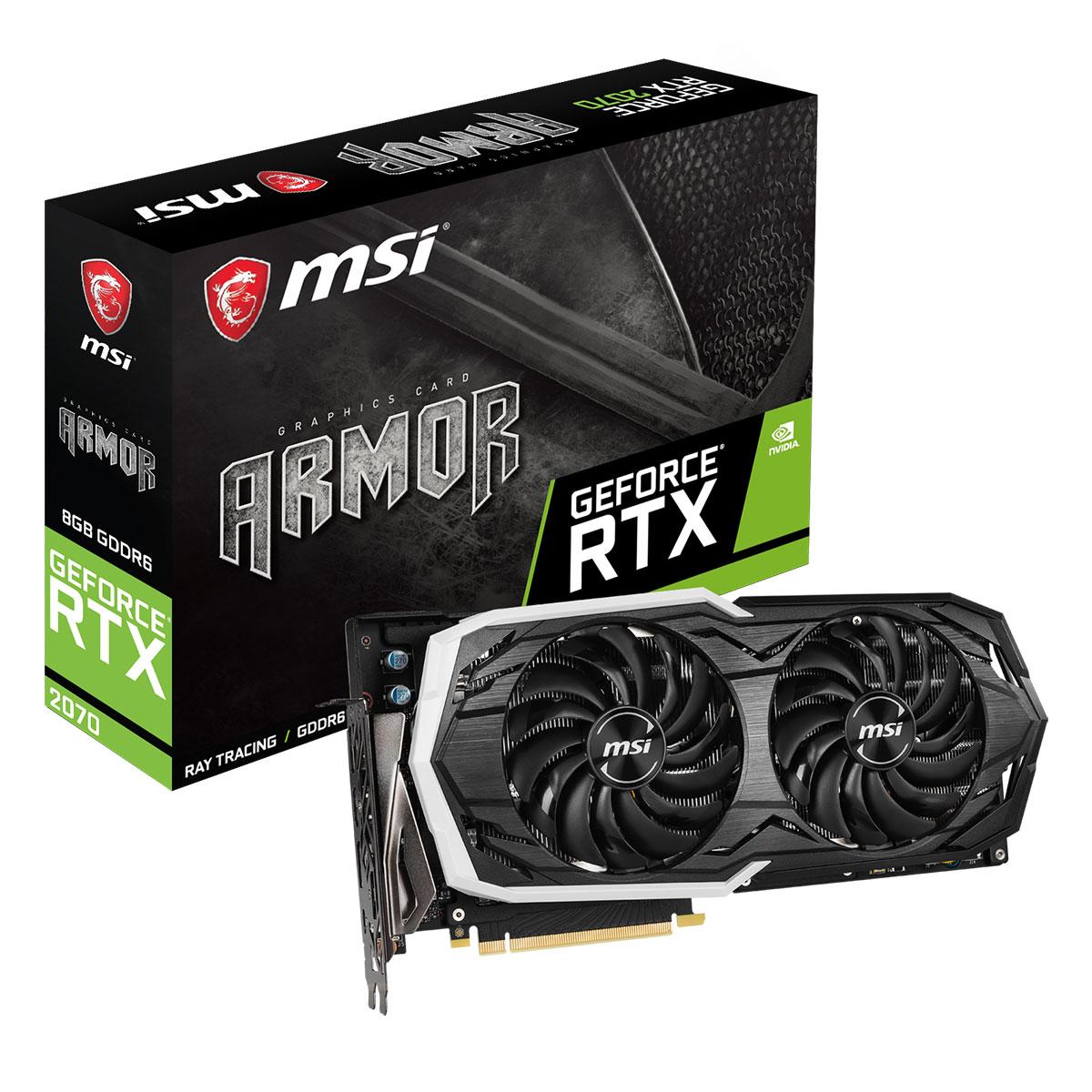 MSI GeForce RTX 2070 ARMOR 8G - Rue Montgallet