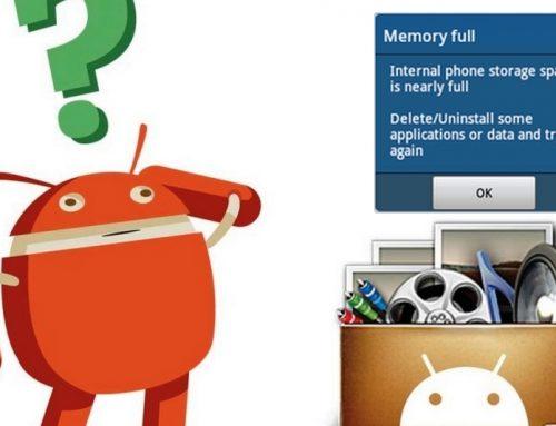 Mémoire interne: Libérer de l'espace sur Android