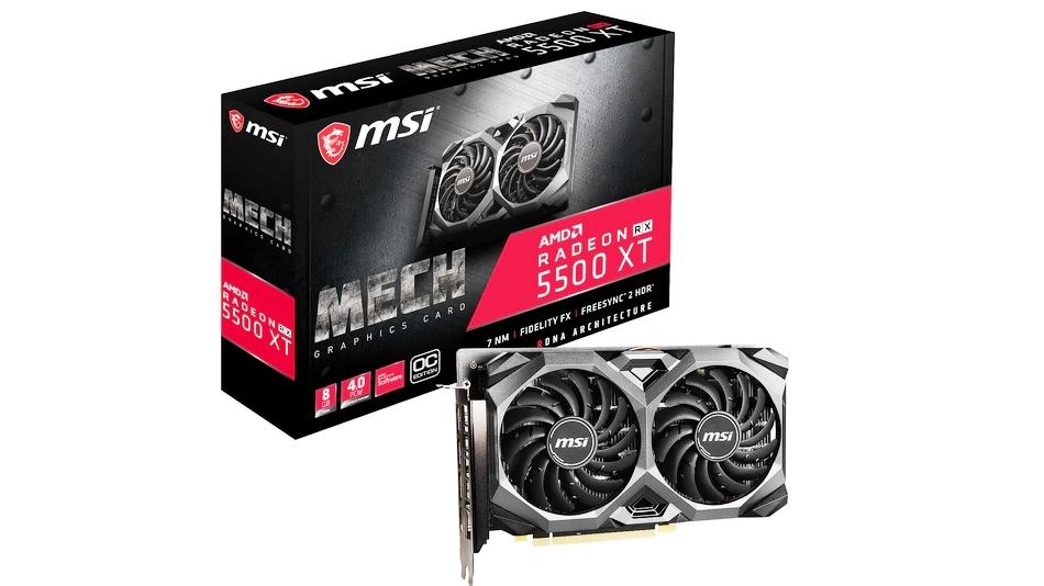 MSI Radeon RX 5500 XT MECH 8 G OC MSI Radeon RX 5500 XT MECH 8 G OC Rue montgallet