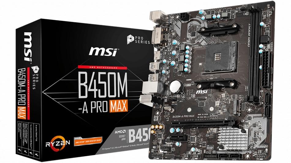MSI B450M-A PRO MAX Rue montgallet