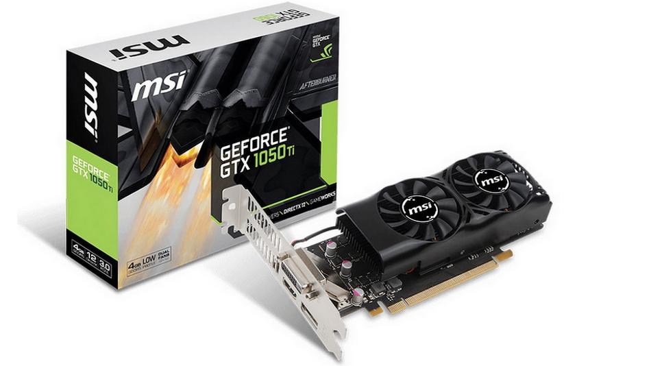 MSI GeForce GTX 1050 TI 4 GT LP Rue montgallet