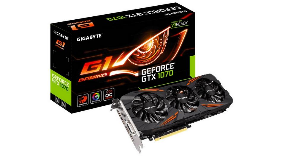 Gigabyte GeForce GTX 1070 WINDFORCE OC rue montgallet