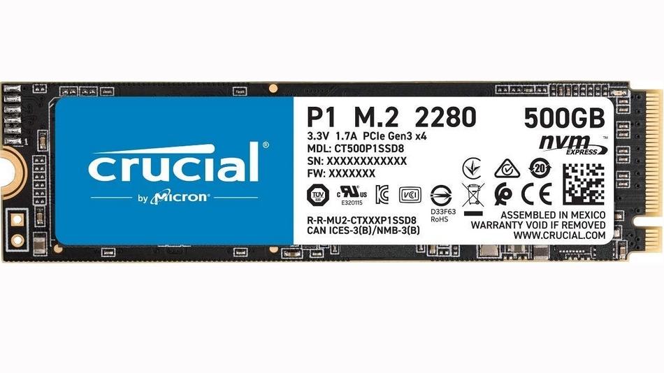 Crucial P1 M.2 PCIe NVMe 500 Go rue montgallet meilleurs SSD 2020