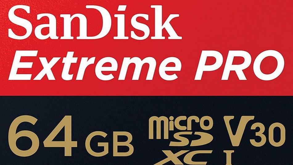 SanDisk Extreme PRO microSDXC UHS-3 V30 64 Go + Adaptateur SD - rue montgallet