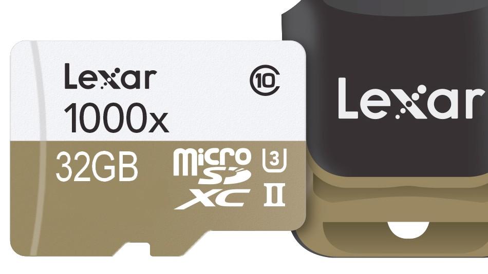 Lexar MicroSDHC 32 Go 1000x- rue montgallet