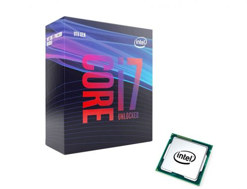 Intel Core i7-9700K, 8 cœurs jusqu'à 4.9 GHz