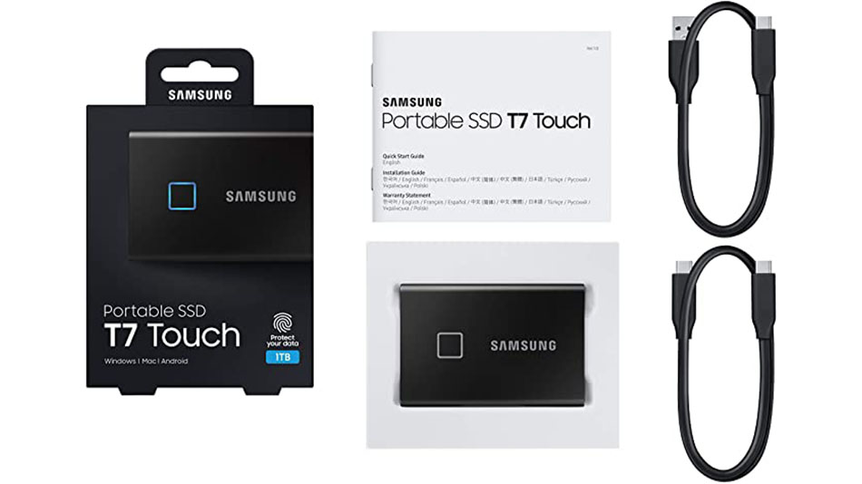 Samsung Portable SSD T7 Touch 2 To Noir - Rue montgallet